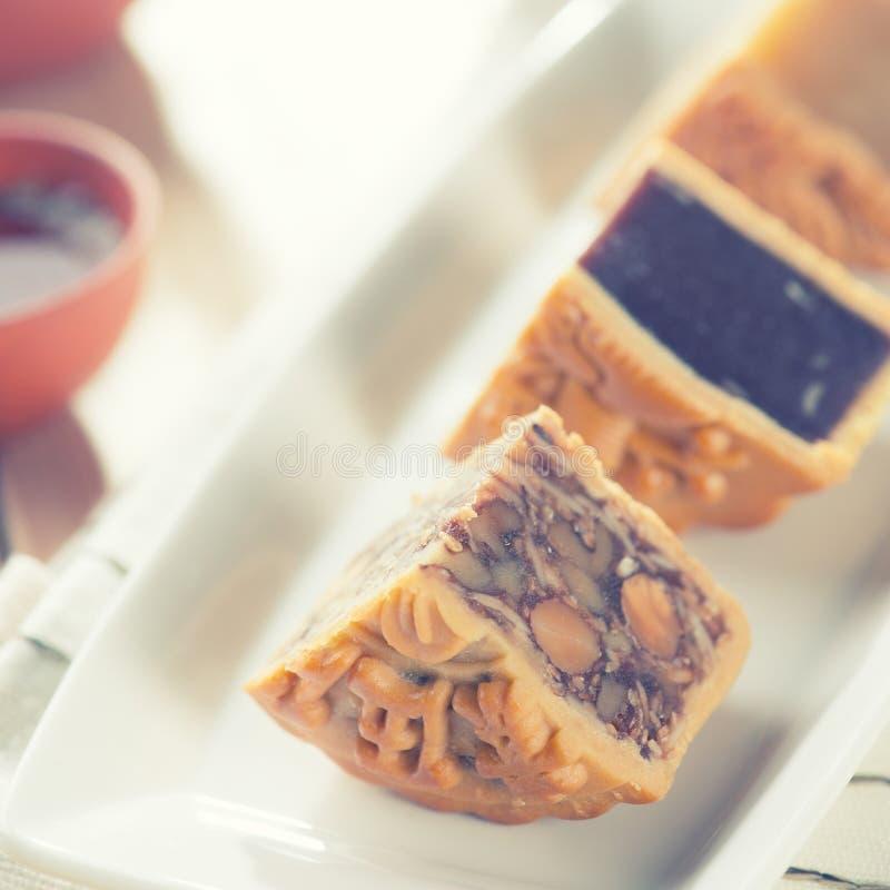 Mooncake meados de chinês dos alimentos do festival do outono fotografia de stock royalty free