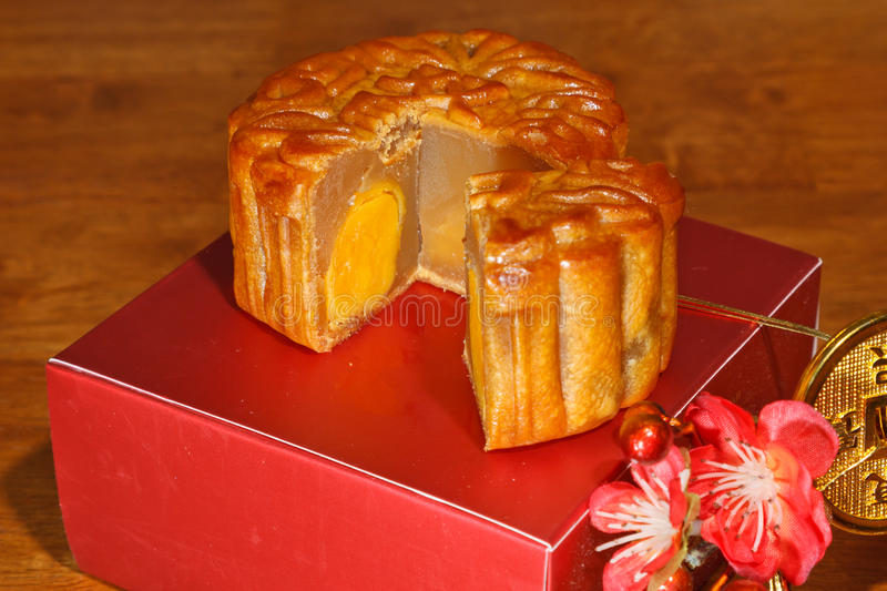 Mooncake Piece royalty free stock images