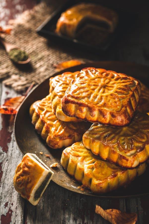 Mooncake pour le festival chinois de mi-automne photo libre de droits