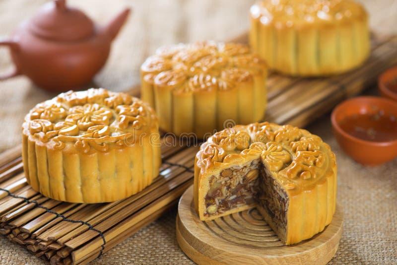 Mooncakes arkivfoton