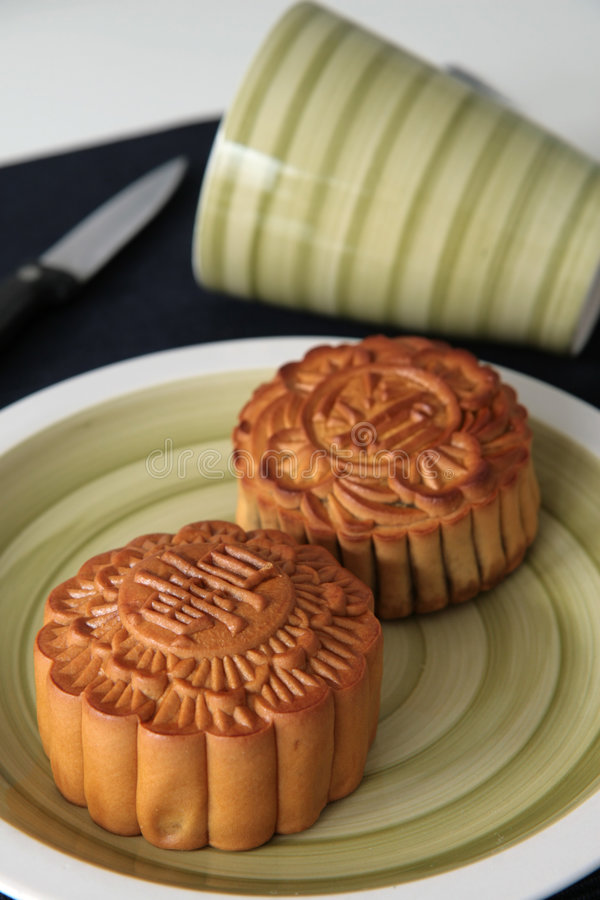 mooncakes fotografia stock