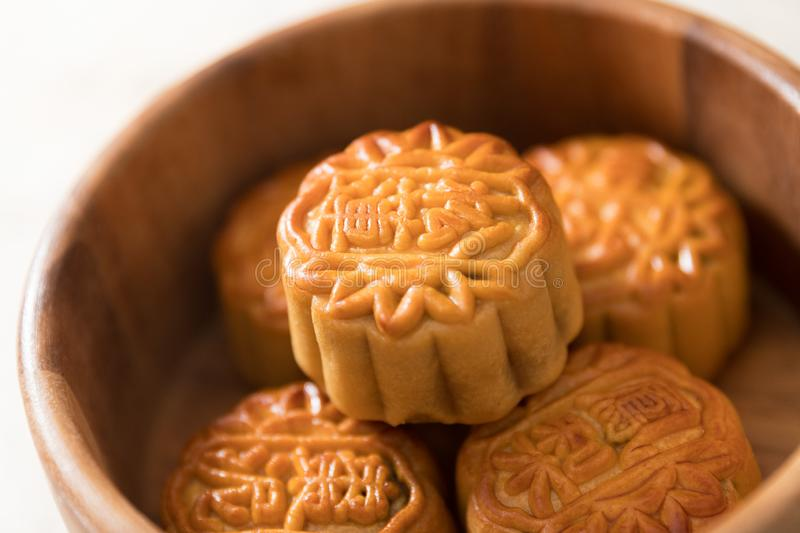Mooncakes closeup stock photography