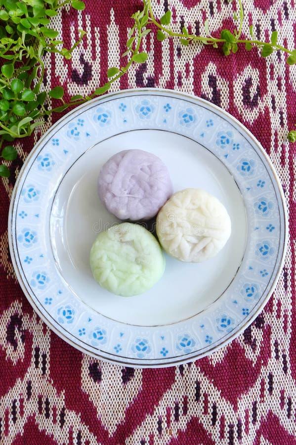Mooncakes - de verscheidenheid van de sneeuwhuid royalty-vrije stock afbeeldingen