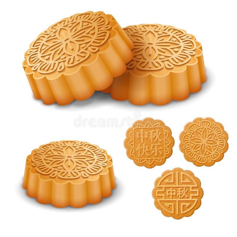 Mooncakes para Autumn Festival meados de ilustração royalty free
