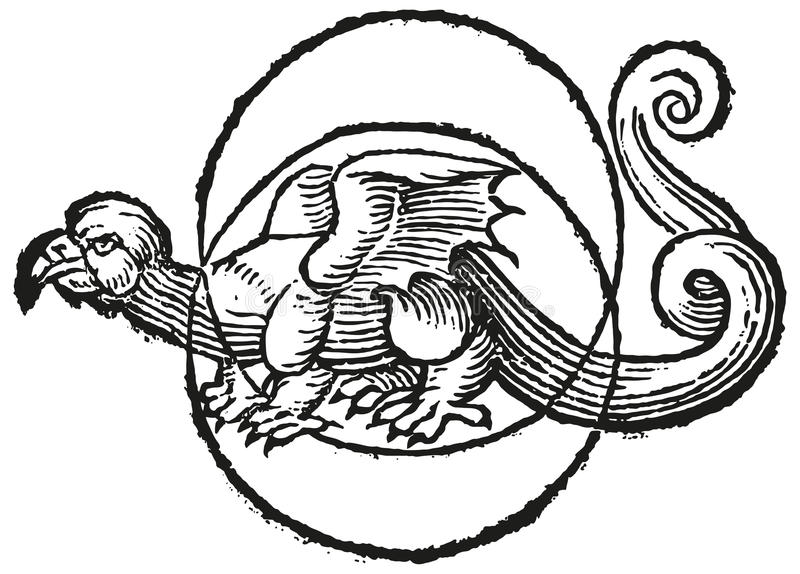 MoonDragon ilustração stock
