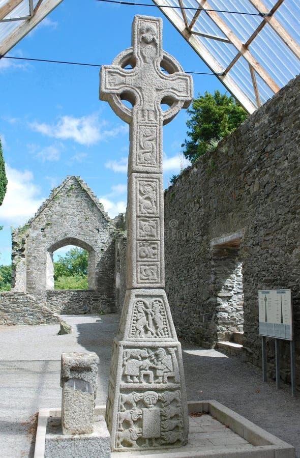 Moone-Hochkreuz, Kildare, Irland stockfotografie