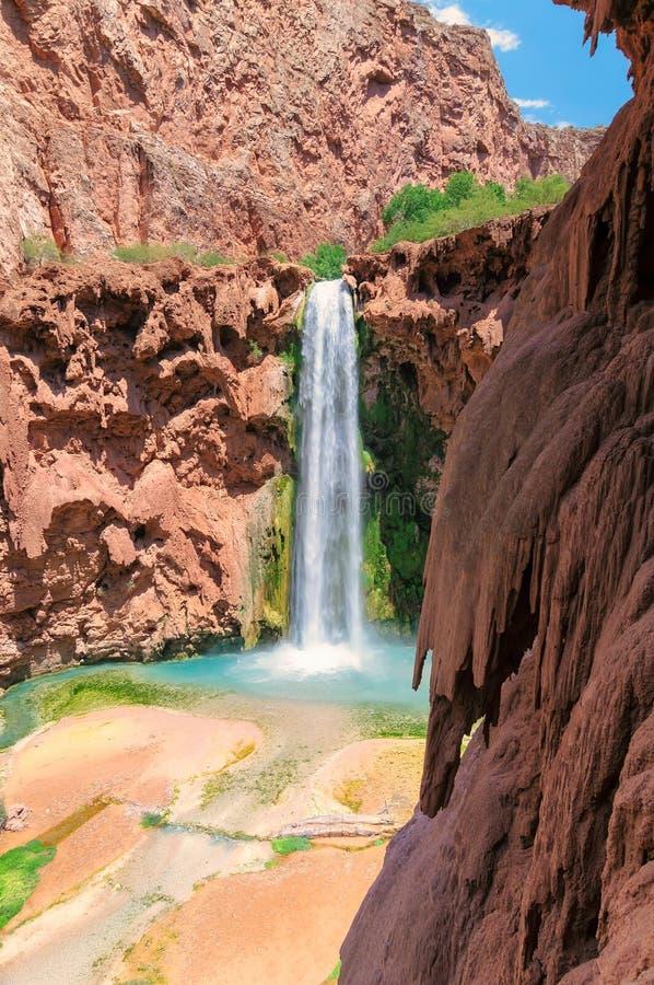 Mooney-Fälle, Havasu-Schlucht, Supai, Grand Canyon, Arizona stockfotografie