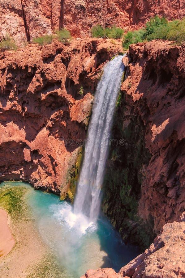 Mooney fällt in Havasu-Schlucht, Supai, Grand Canyon, Arizona stockfoto