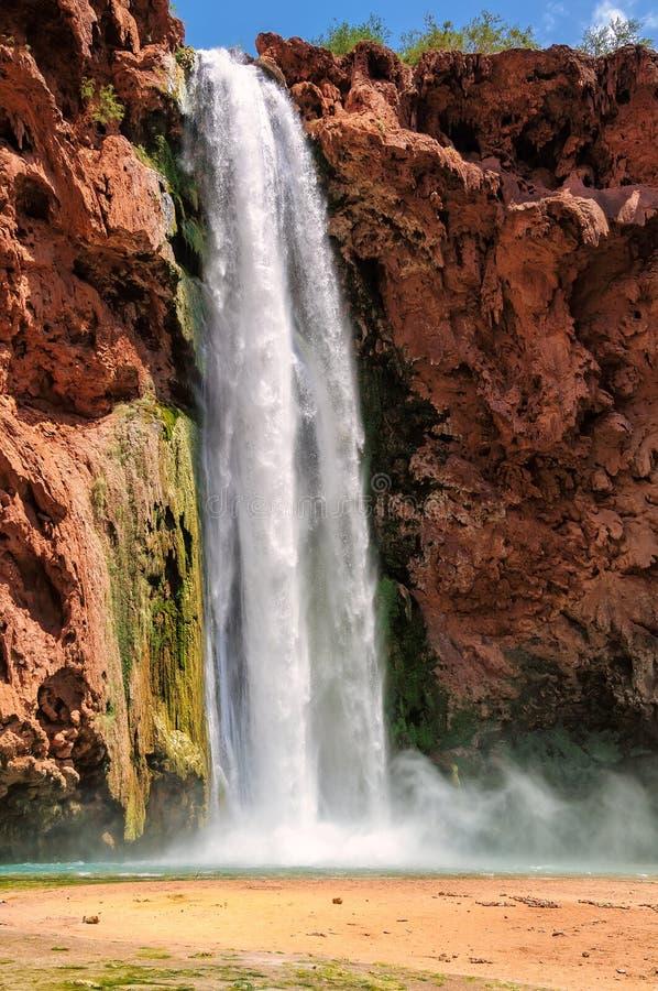 Mooney Falls, Havasu Canyon, Havasupai Indian Reservation, Arizona royalty free stock photography