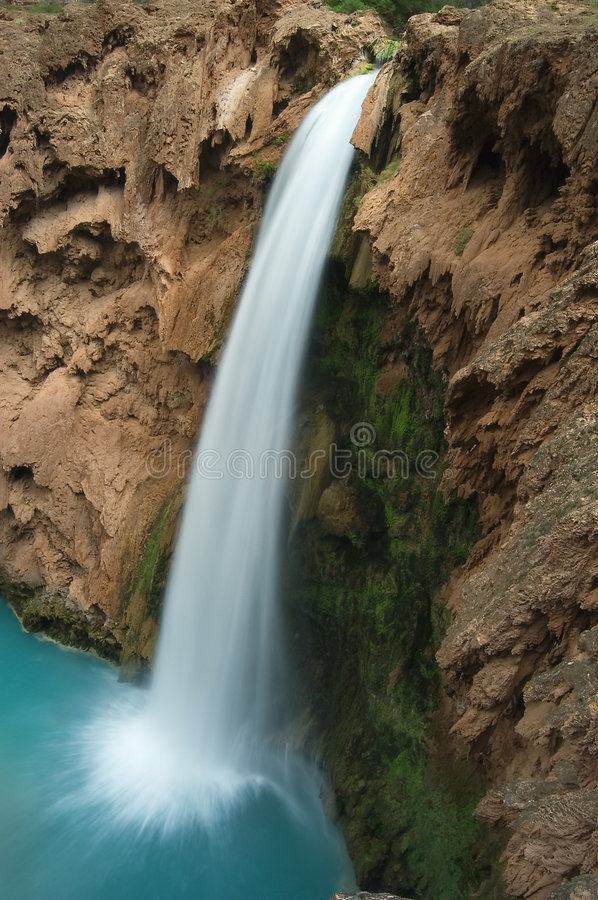 Mooney Falls from the Rim royalty free stock photography
