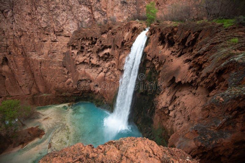 MooneyFalls Północny Arizona obrazy stock