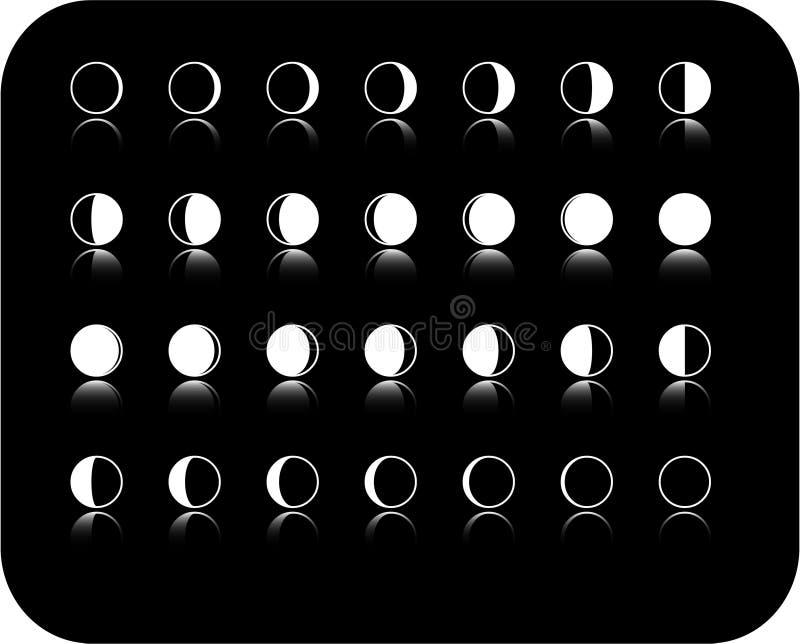 moonfas vektor illustrationer