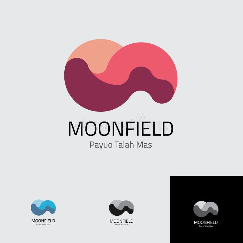 Moonfield-Konturn-Logoschablone lizenzfreie stockfotos