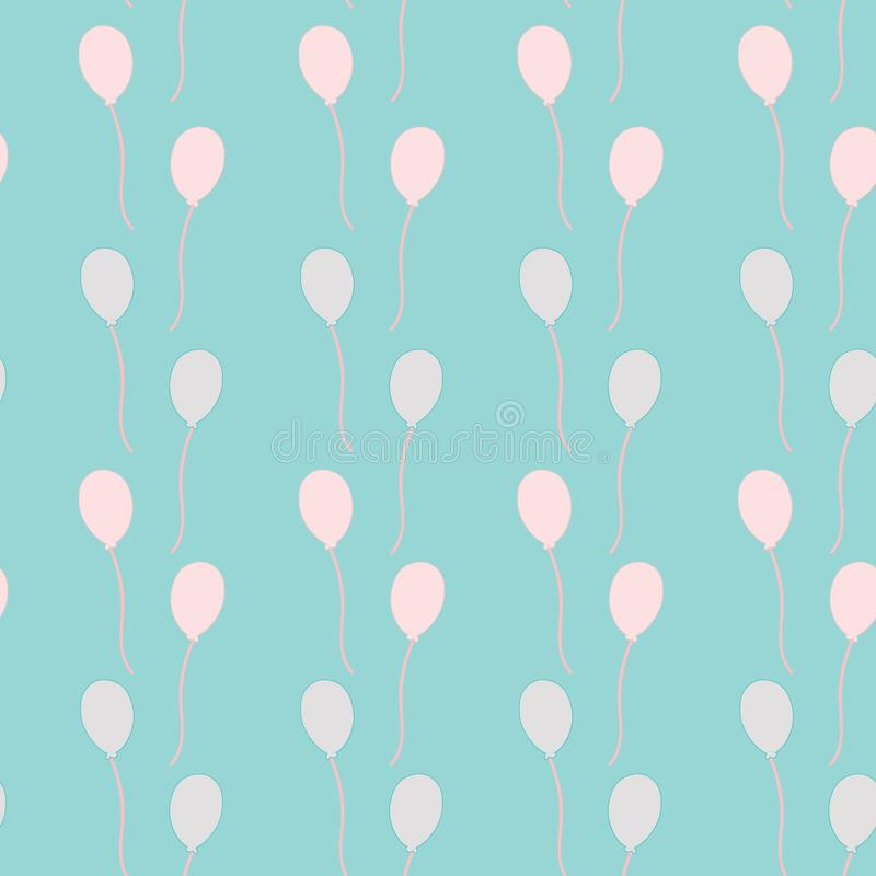 Rows of balloons in the sky stock image