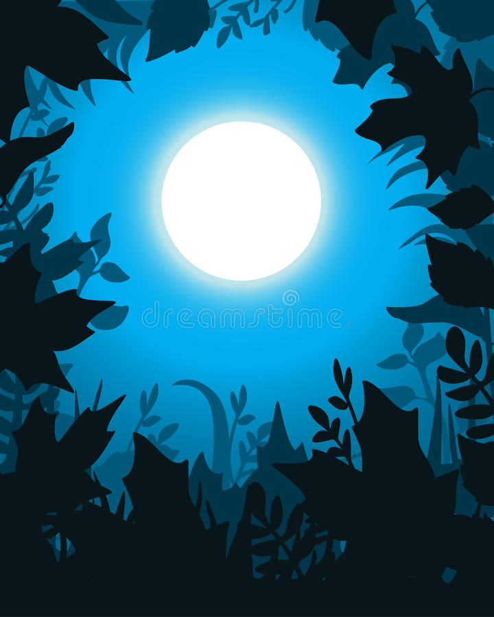 Download Moonlight stock vector. Image of copy, frame, foliage - 20776157