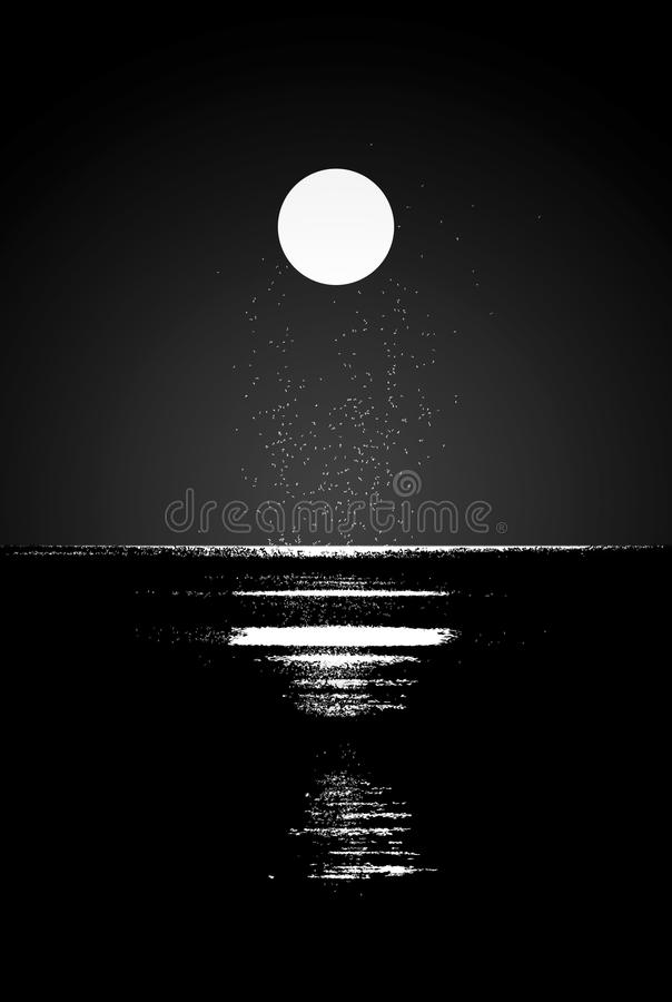 Download Moonlight stock illustration. Illustration of darkness - 21877215