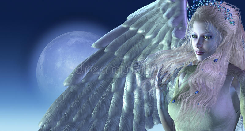 Moonlight Angel royalty free illustration