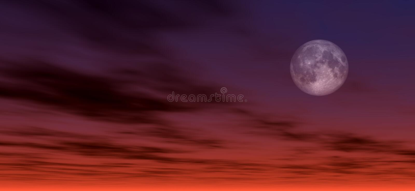 Moonlight background 2 royalty free illustration