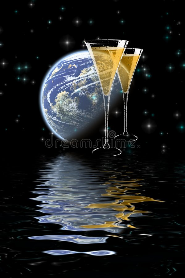 Download Moonlight Champagne . Royalty Free Stock Photos - Image: 108688