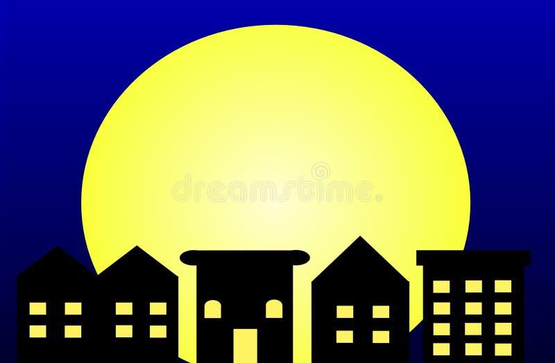 Moonlight City Stock Image