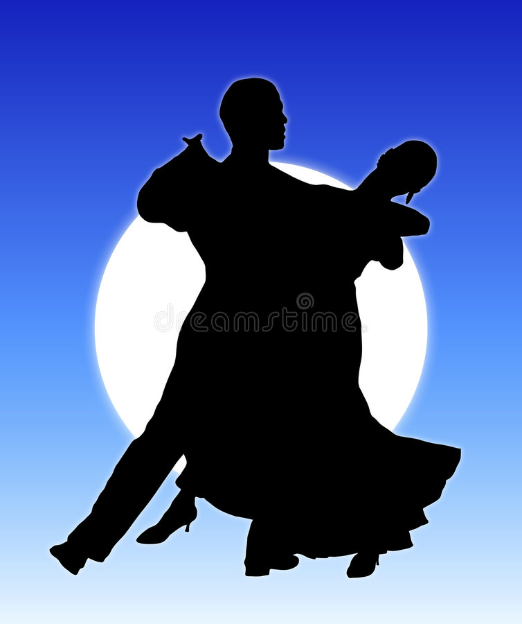 Moonlight Dance 1 stock illustration