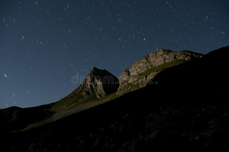 Moonlight landscape at Durmitor stock image