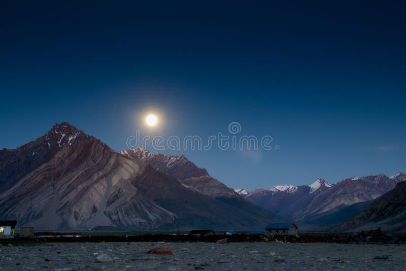 Moonlight landscape royalty free stock image