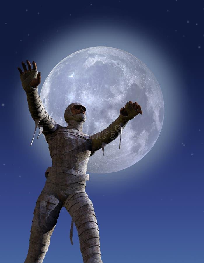Moonlight Mummy Royalty Free Stock Images