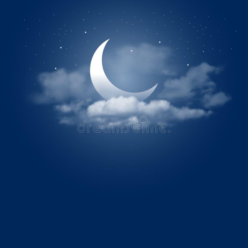 Moonlight night royalty free illustration