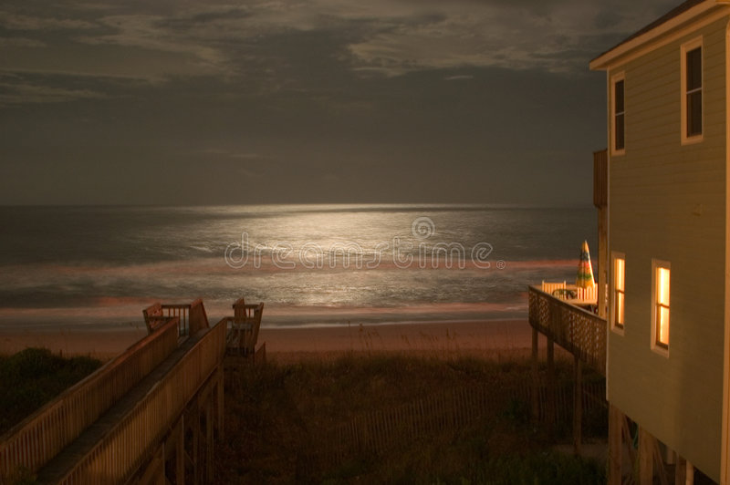 Download Moonlight on the Ocean stock image. Image of surf, carolina - 15763