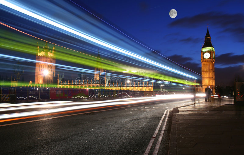 Download Moonlight over London stock photo. Image of famous, cityscape - 4604726