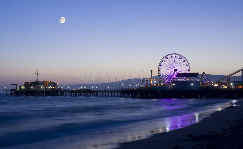 Download Moonlight Over Los Angeles Royalty Free Stock Photography - Image: 5580757