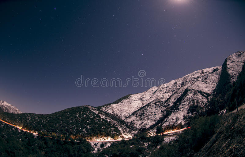 Moonlight Over Mountain Landscape Free Public Domain Cc0 Image