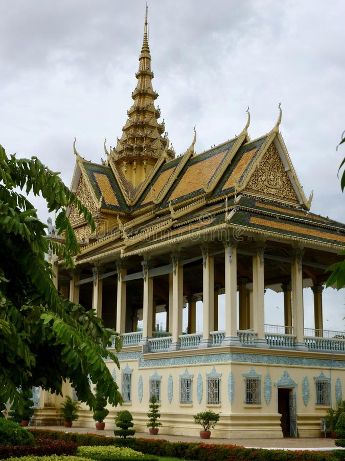 The Moonlight Pavillion at The Royal Palace Complex in Phnom Penh, Cambodia stock photo