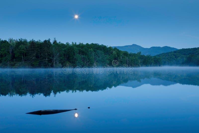 Moonlight on Price Lake Blowing Rock North Carolina royalty free stock photos