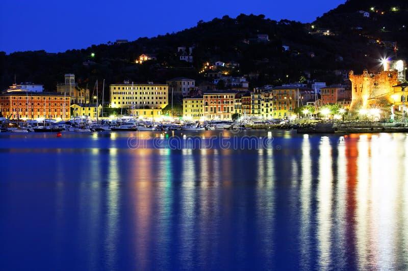 Moonlight in Santa Margherita Ligure royalty free stock image