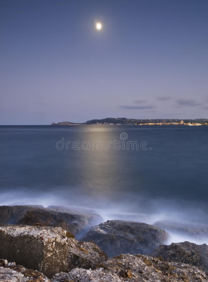 Download Moonlight On The Sea Stock Photos - Image: 10762223