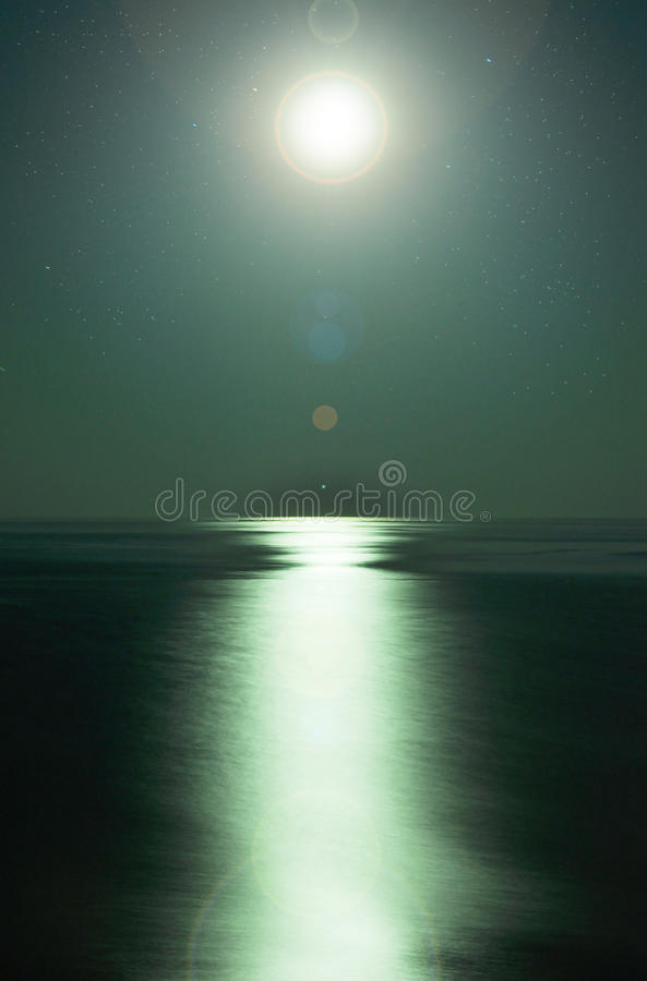 Moonlight By The Sea Stock Photography