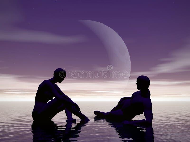 Download Moonlight sonate 2. stock illustration. Illustration of feminine - 161497