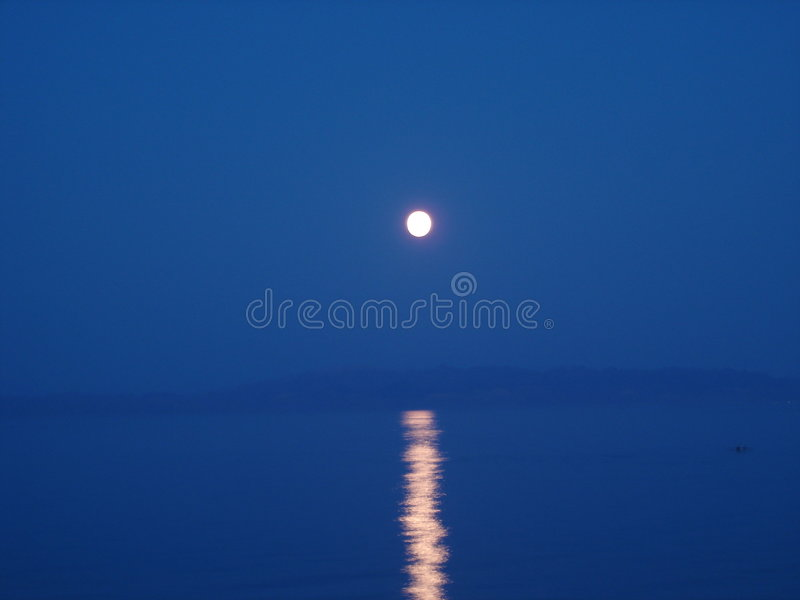 Moonlight on water royalty free stock photography