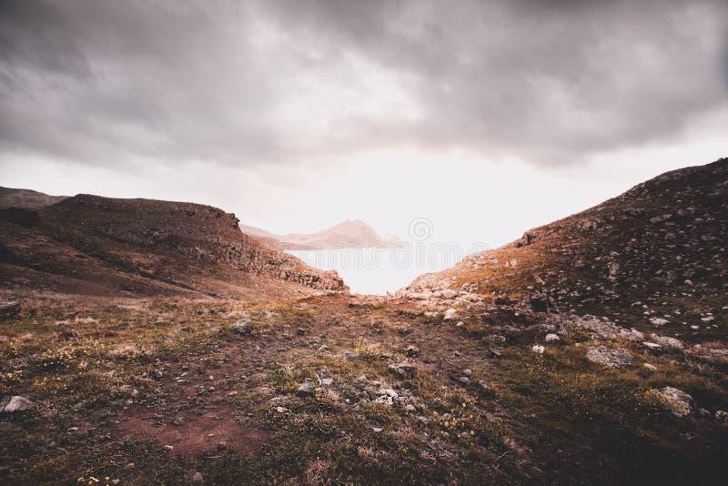 Rocks of Punta Sao Lourenco, Madeira stock photos