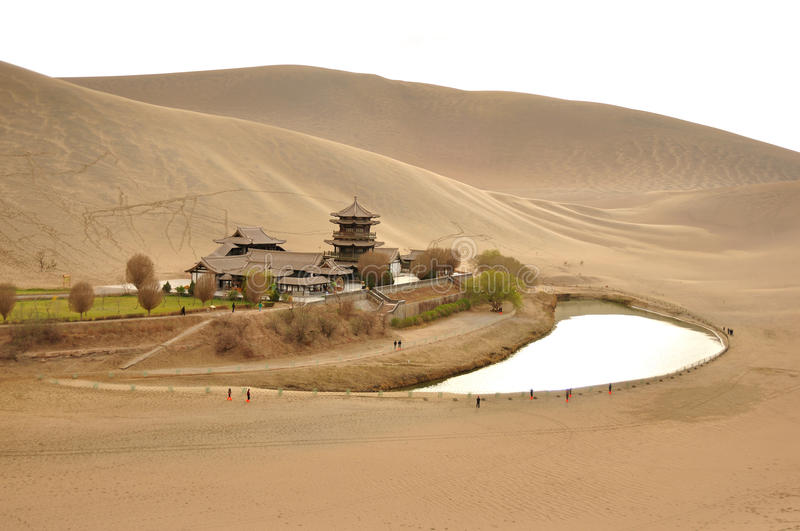 Moonlike spring of dunhuang city