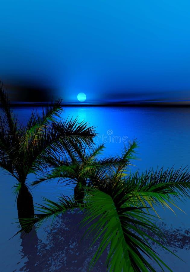 moonlit ладони ночи бесплатная иллюстрация