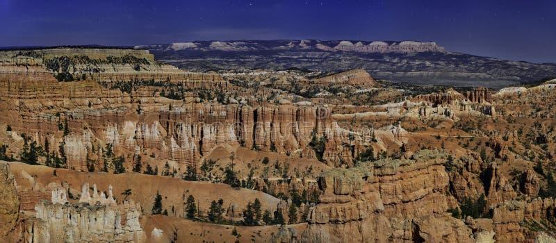 Moonlit Bryce Canyon fotografia stock libera da diritti