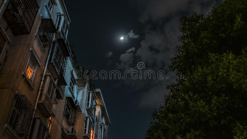 A moonlit night. Dreamy scenes. royalty free stock photo