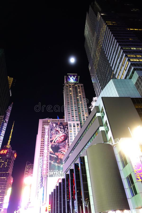 Moonlit Night in 42nd St. stock image