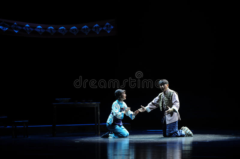 The moonlit night talk- Jiangxi opera a steelyard. Jiangxi opera a steelyard is adapted from a true story: the last century fortys, the protagonists father runs stock image