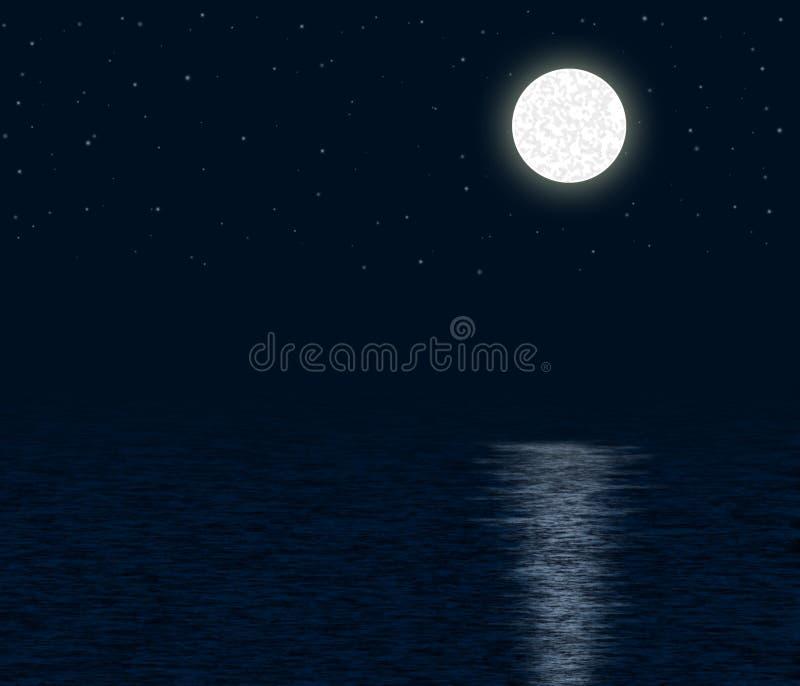 Moonlit Ocean stock image