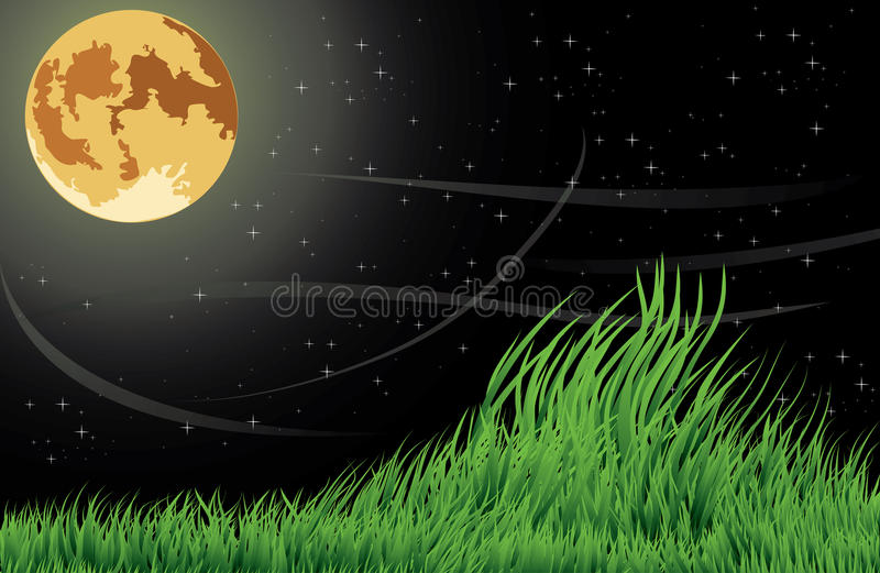 moonnatt stock illustrationer