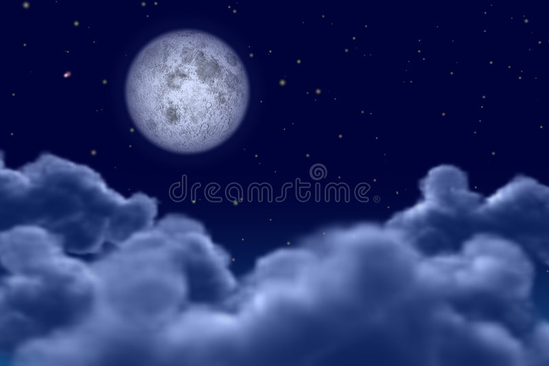 Moonnight vector illustration